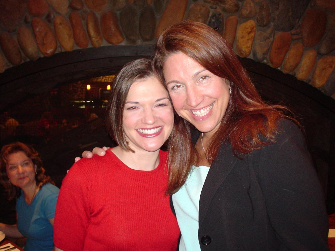 At the 2005 Romance Writers of America national conference with client Eileen Cassidy Rivera